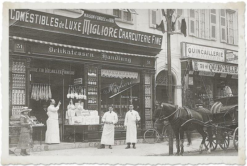 Comestibles de Luxe Migliore en 1900